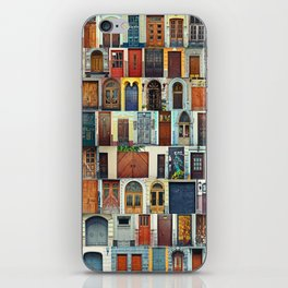 Collage of Kiev front doors,Ukraine iPhone Skin