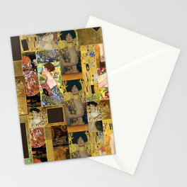 Klimt geometric collage Stationery Cards