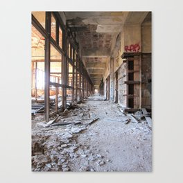 Packard Plant Hall Canvas Print