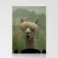 alpaca Stationery Cards featuring Alpaca Farm by TaLins