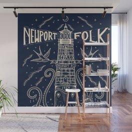 1959 Vintage Newport Folk Festival - Fort Adams, Newport, Rhode Island - Advertising Poster Wall Mural