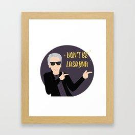 Twelve, Don't be lasagna Framed Art Print