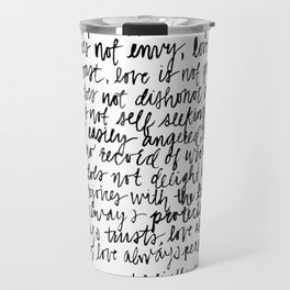 love is patient, love is kind Travel Mug