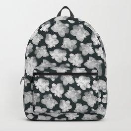 cloud flowers - black Backpack