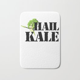 Hail Kale Kale Art for Vegans Vegetarians on Diet Light Bath Mat