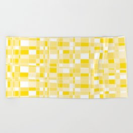 Mod Gingham - Yellow Beach Towel