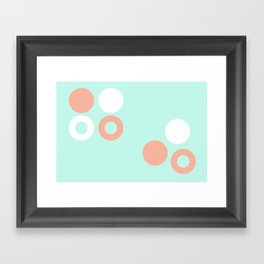 Turquoise & Coral (8) Framed Art Print