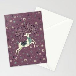 Prancing Reindeer Stationery Cards