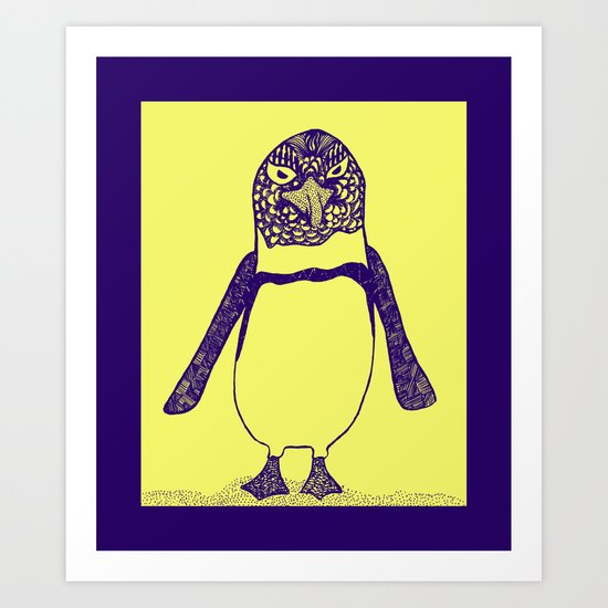 Somewhat of a Jackass Penguin Art Print