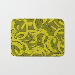 Dark Lemon Yellow Abstract Background Bath Mat