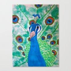 Watercolor Peacock Canvas Print
