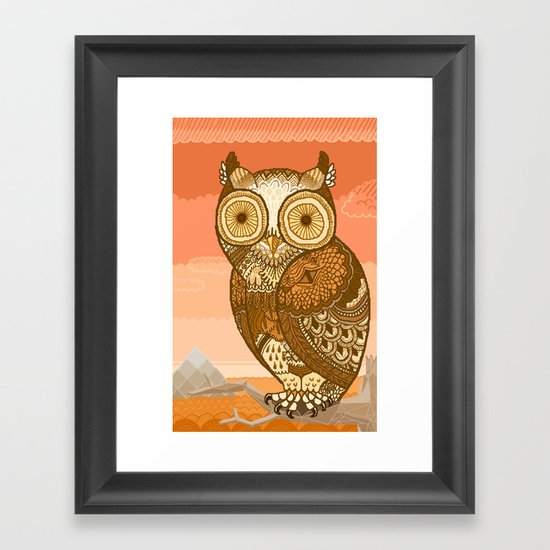 Owlie in Autumn Framed Art Print