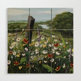 Wild Daisies Wood Wall Art