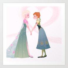 Frozen Fever - Anna Art Print