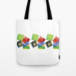 Painted Squares Jiggle Tote Bag