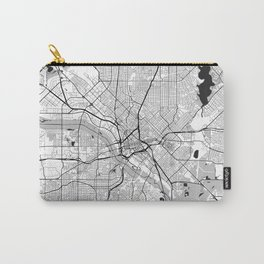 Dallas Map Gray Carry-All Pouch