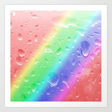 Rain on the rainbow Art Print