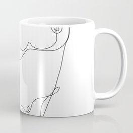 Minimal Line Art One Line Female Figure I Coffee Mug
