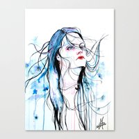 agnes cecile Canvas Prints featuring Agnes Cecile inspired painting  by SOLMONTASER