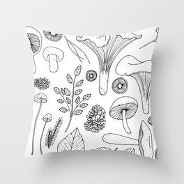 Wild Gatherer III Throw Pillow