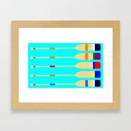 Row Of Oars Framed Art Print