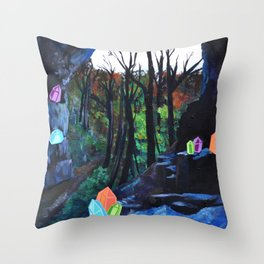 Crystal Cavern Throw Pillow