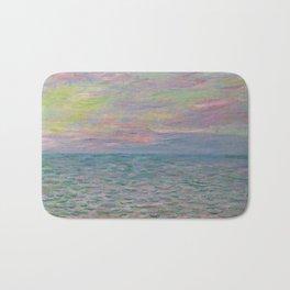 """Claude Monet """"Coucher de soleil à Pourville, pleine mer"""" Bath Mat"""