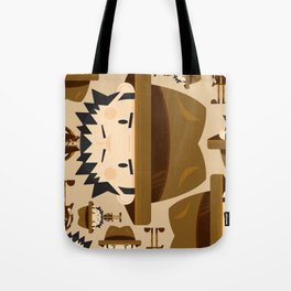 Cute Cartoon Safari Explorer Pattern Tote Bag