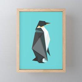 Fractal geometric emperor penguin Framed Mini Art Print