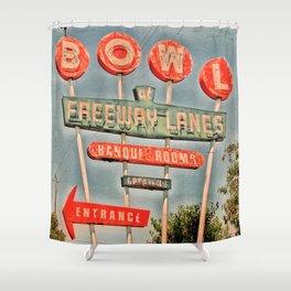 Freeway Lanes Bowl - Selma, CA Shower Curtain