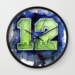 Seattle 12th Man Art Wall Clock