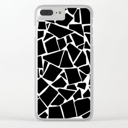 Black and white pattern - Scatter Geo Clear iPhone Case
