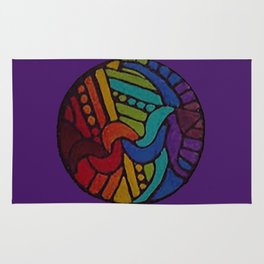 Rainbow Disc Rug