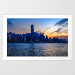 Hong Kong Harbor Sunset Art Print