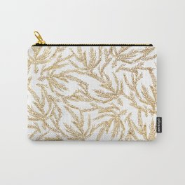 Gold Coral Ferns Carry-All Pouch