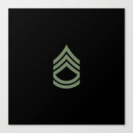Sergeant First Class (Green) Canvas Print