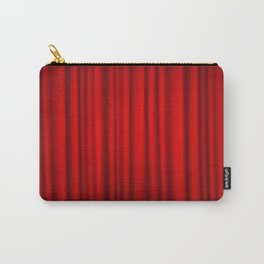 red silk curtains Carry-All Pouch