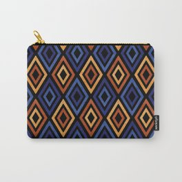 Tribal Diamond Pattern Carry-All Pouch