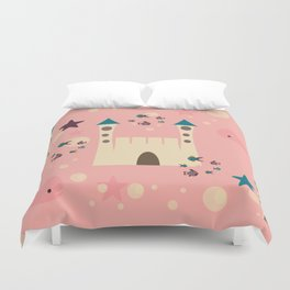 sand castle pink Duvet Cover