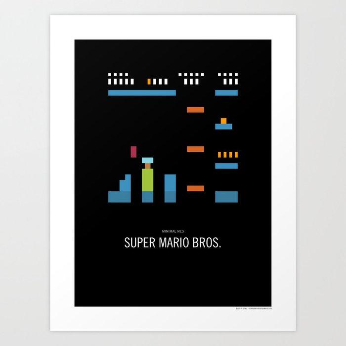 Minimal NES - Super Mario Bros. Art Print