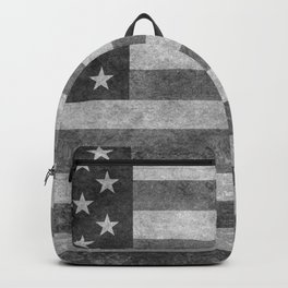 Stars and Sripes in retro style grayscale Backpack