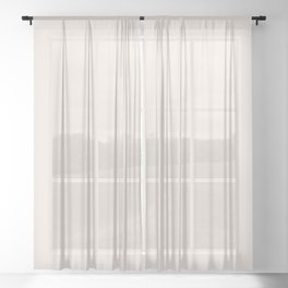 Creamy Pastel Pale Peachy Pink Solid Color Parable to Pink Kiss 1007-2c by Valspar Sheer Curtain