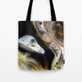 Janus - God of Beginnings, transitions, and duality - Original Abstract Painting Tote Bag