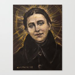 The poor Gemma (Sta. Gemma Galgani) Canvas Print