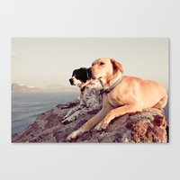 chill Canvas Prints featuring Chill by maisie ong