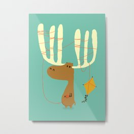 A moose ing Metal Print