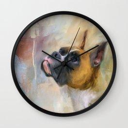 Flashy Fawn Boxer Wall Clock