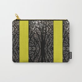 Gothic tree striped pattern mustard yellow Carry-All Pouch