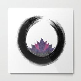 Enso & Lotus Metal Print