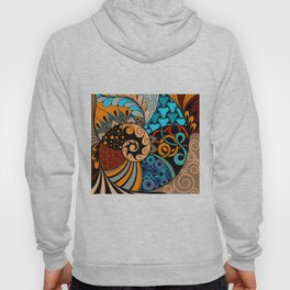 Hand-drawn ethno zentangle pattern, tribal background African sty. Beautiful, africa. Hoody